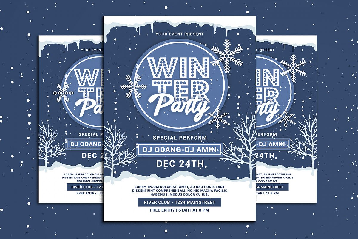 Winter Party Flyer example image 1