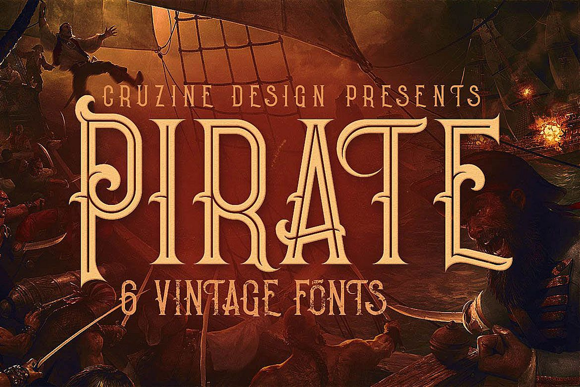Pirate- Vintage Style Font example image 1