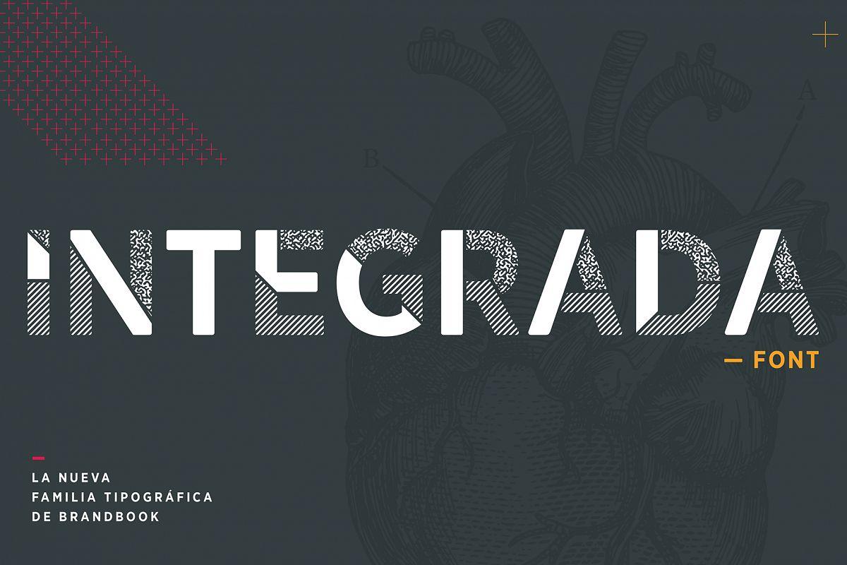 INTEGRADA font example image 1