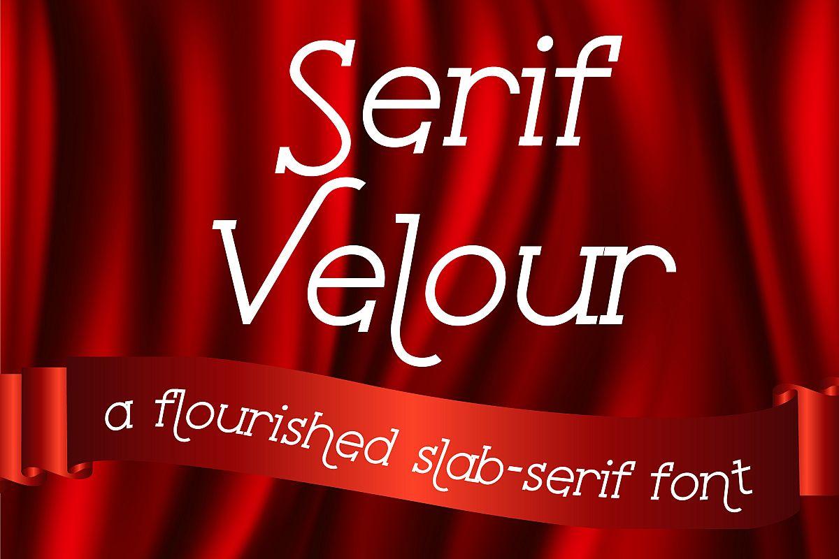 ZP Serif Velour example image 1