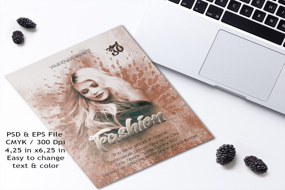 Fashion flyer template example image 1