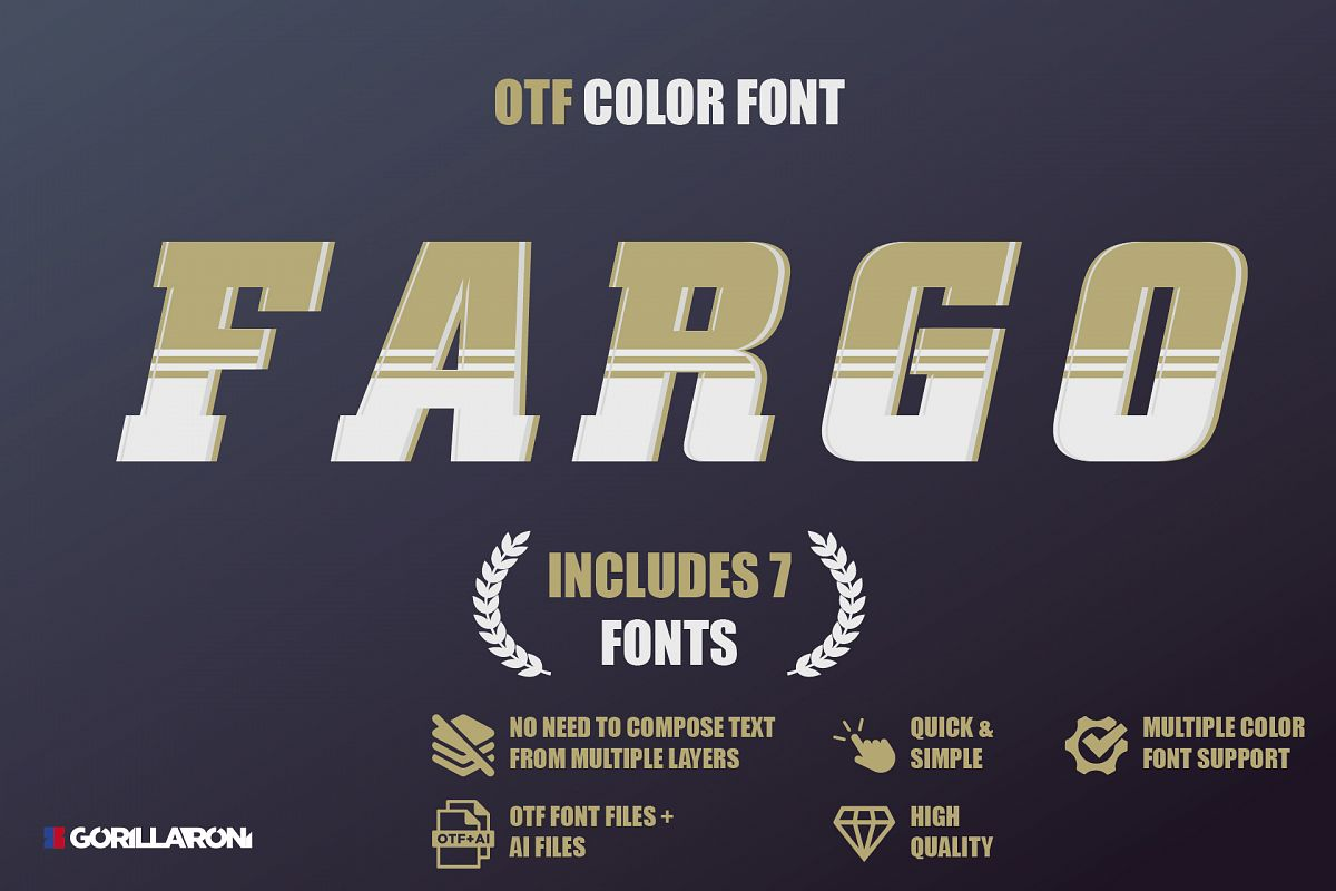 SVG color font - Fargo example image 1
