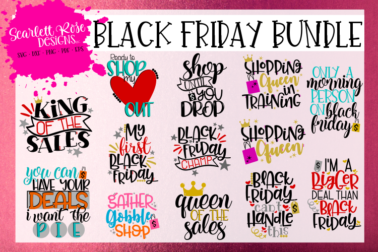 Black Friday SVG Bundle example image 1