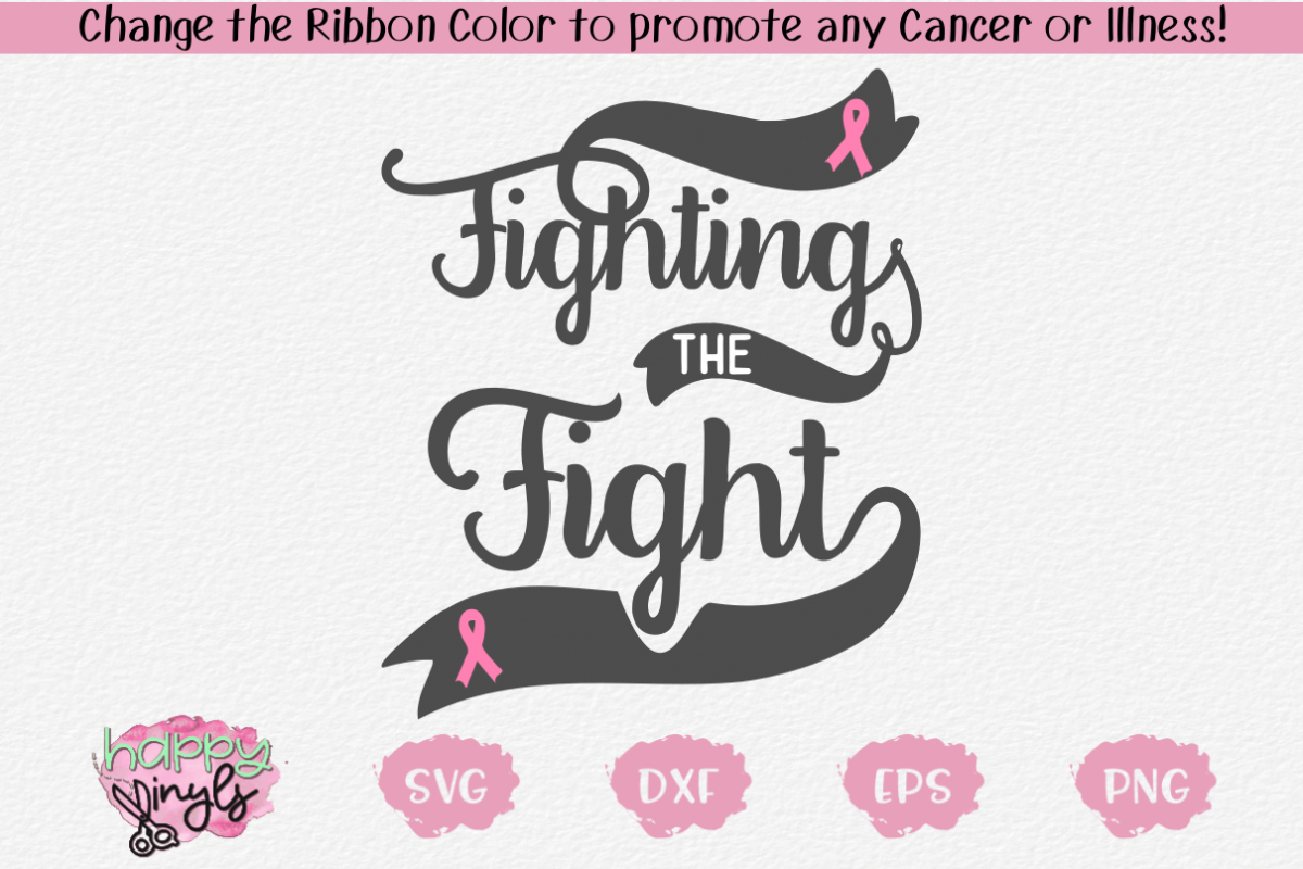 Fighting the Fight - A Cancer SVG example image 1