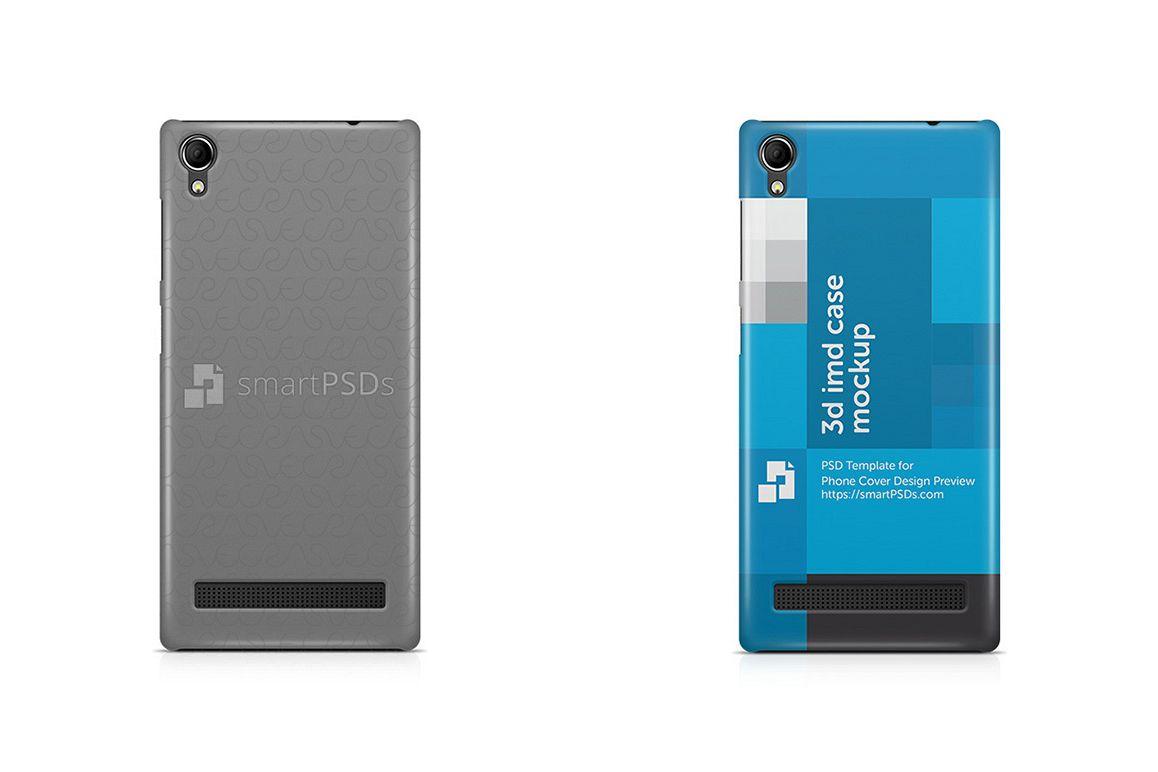 Intex Aqua Power Plus 3d IMD Mobile Case Design Mockup  2015 example image 1