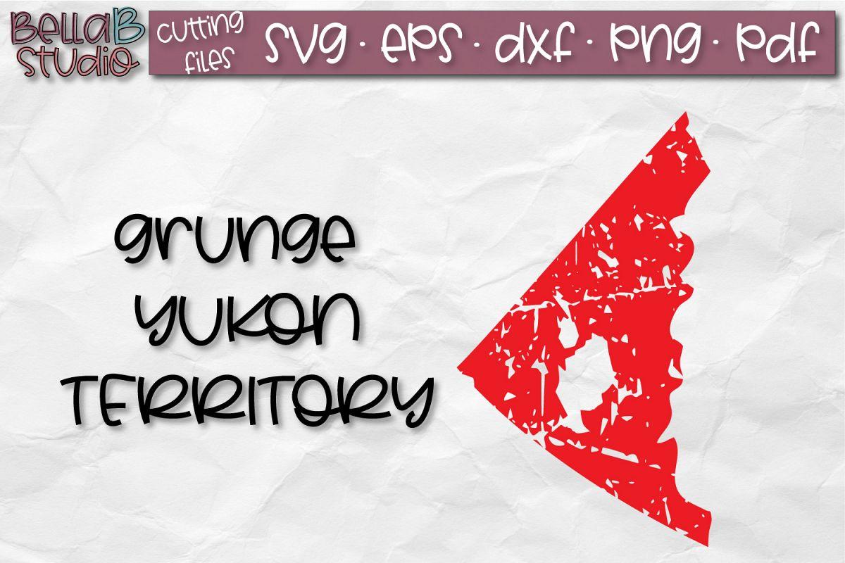 Yukon SVG, Canada SVG, Canadian SVG, Distressed, Grunge example image 1