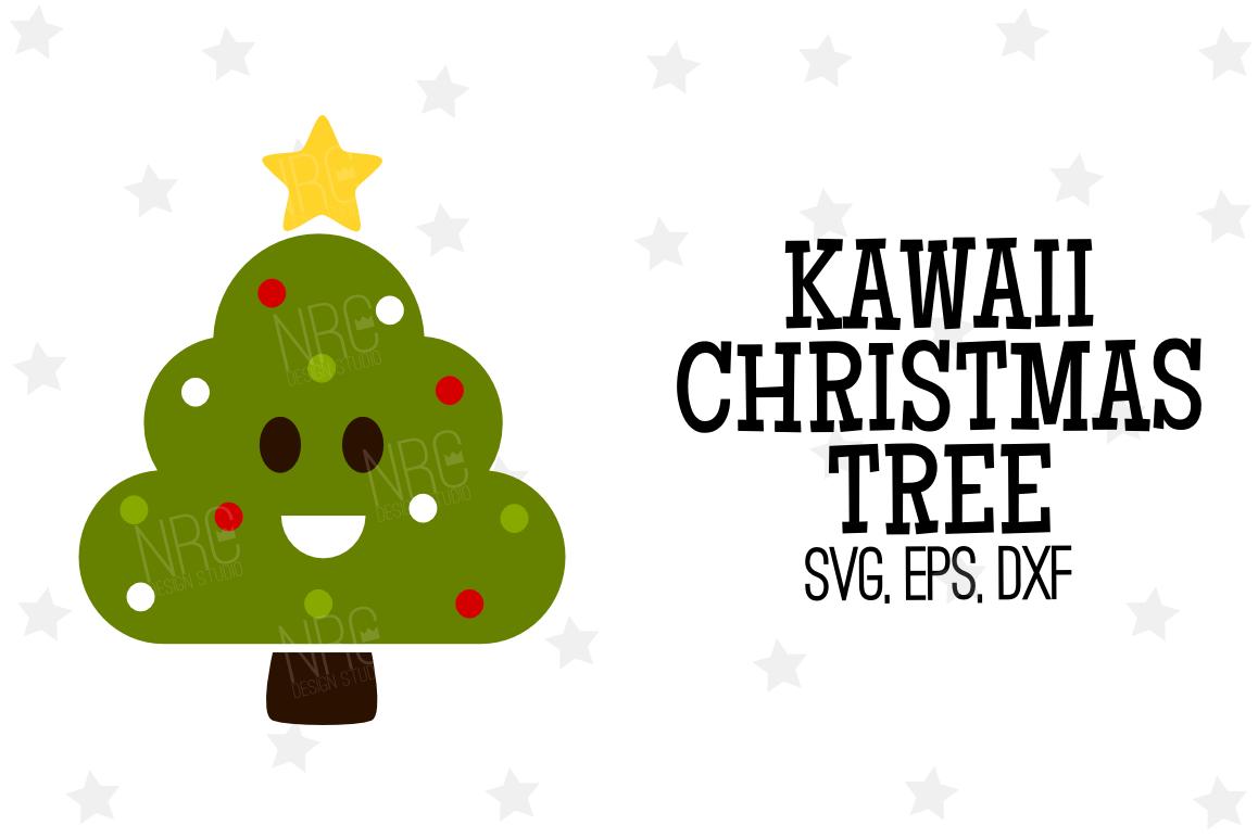 Kawaii Christmas Tree SVG File