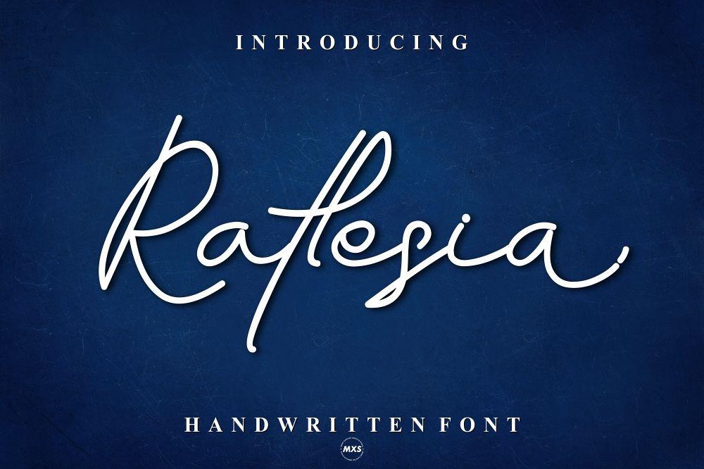 Raflesia Font example image 1