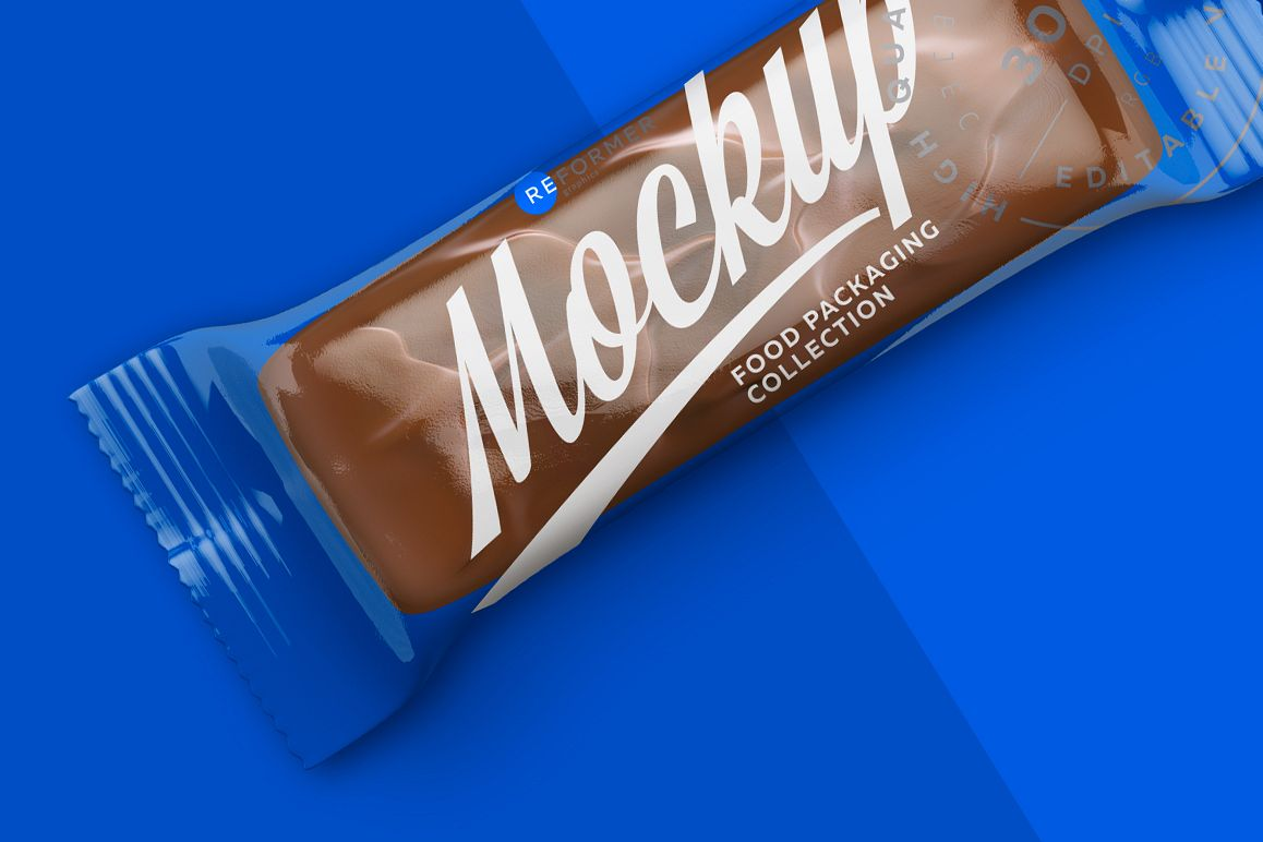 Transparent Chocolate Bar Mockup 50g example image 1