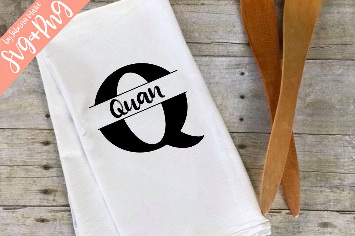 Split Monogram Q - Handdrawn - SVG/PNG example image 1