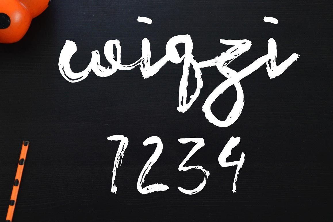 Wiqzi 7234 Font example image 1