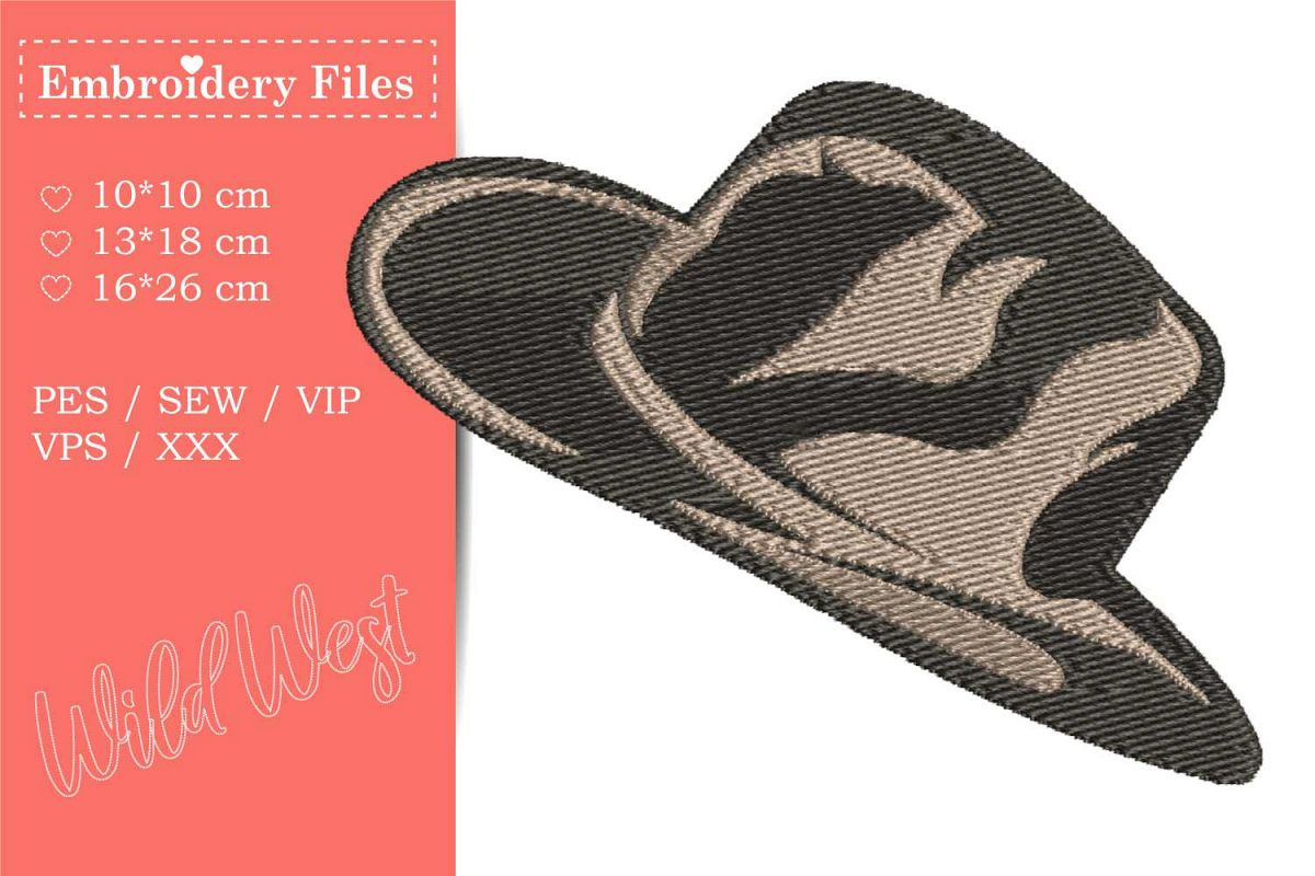 Cowboy Hat - Embroidery File for Beginners example image 1