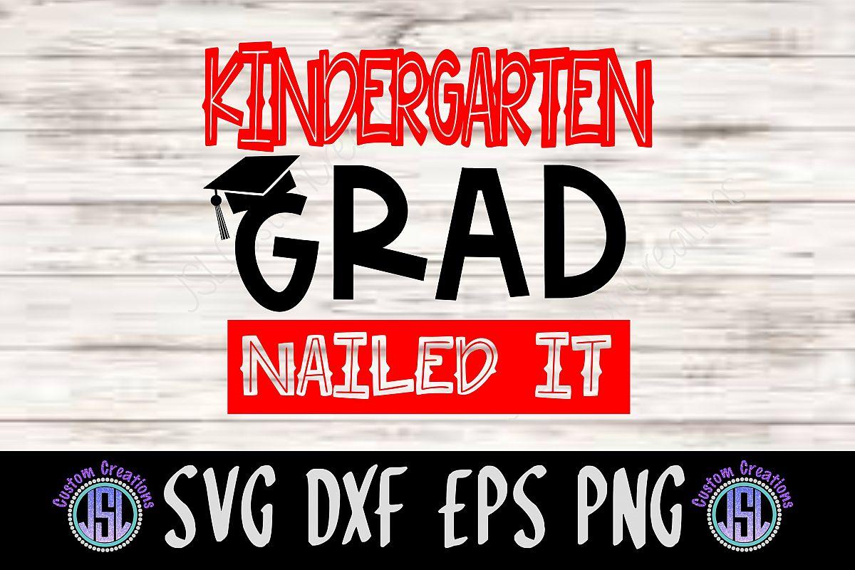 Kindergarten Grad | SVG DXF EPS PNG Digital Cut File example image 1