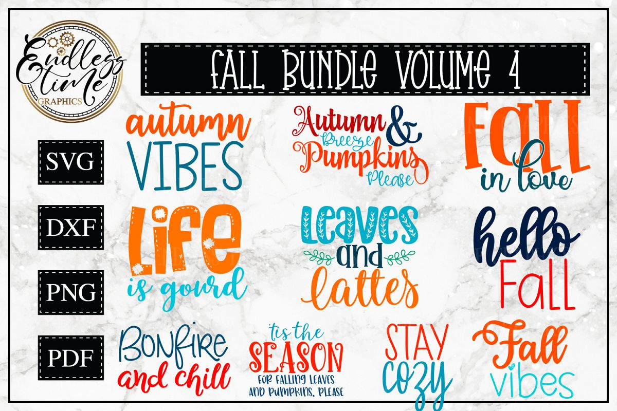 Fall Bundle Volume 4 - 10 Fun Fall SVG Designs example image 1