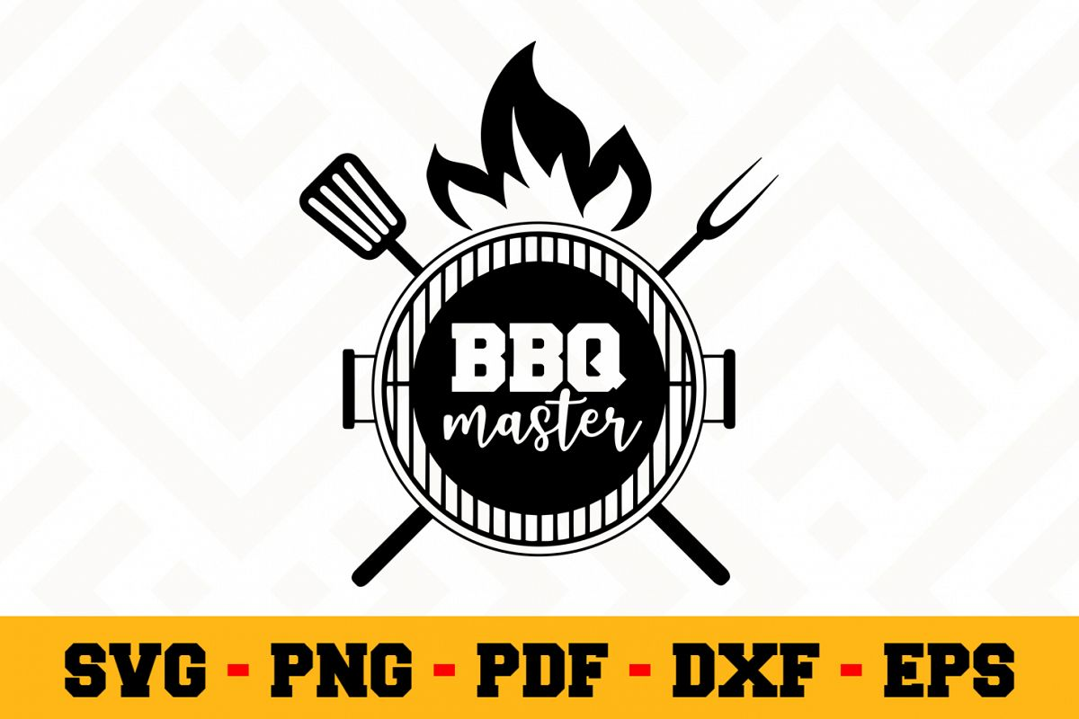 BBQ SVG Design n604 | Barbecue Grill SVG Cut File example image 1
