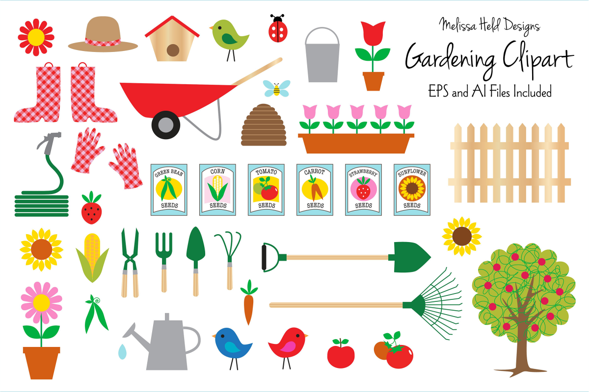 Gardening Clipart example image 1