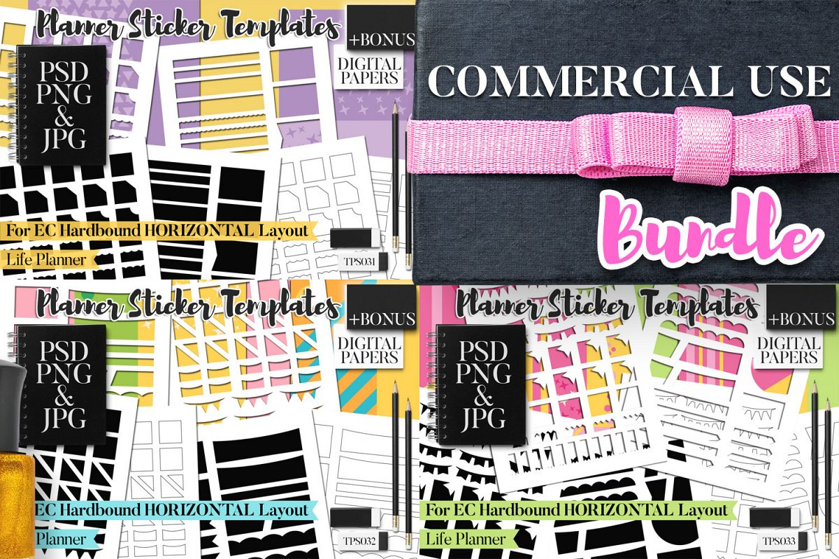 Planner Stickers Templates - Bundle Vol. 11 example image 1