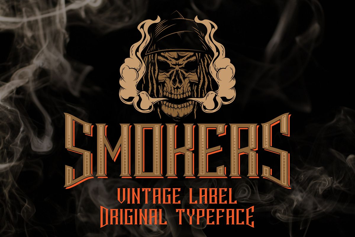 Smokers typeface example image 1
