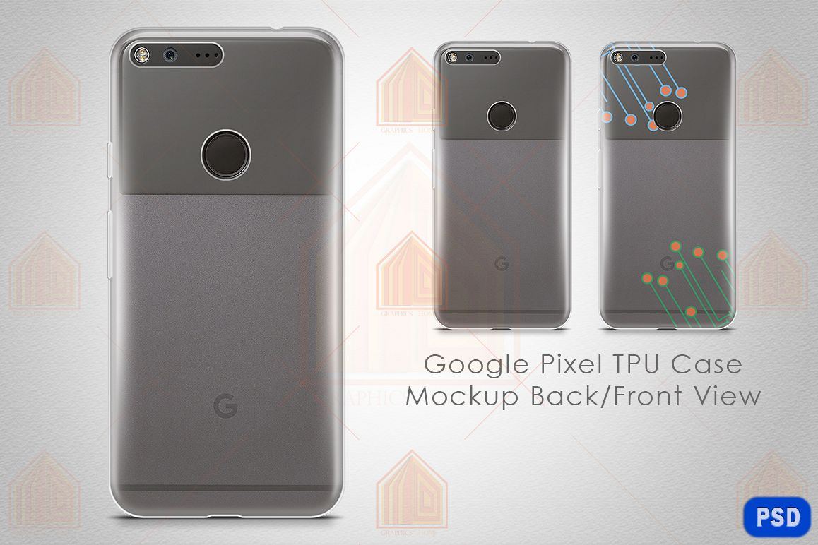 Google Pixel UV TPU Case Mockup Back View example image 1