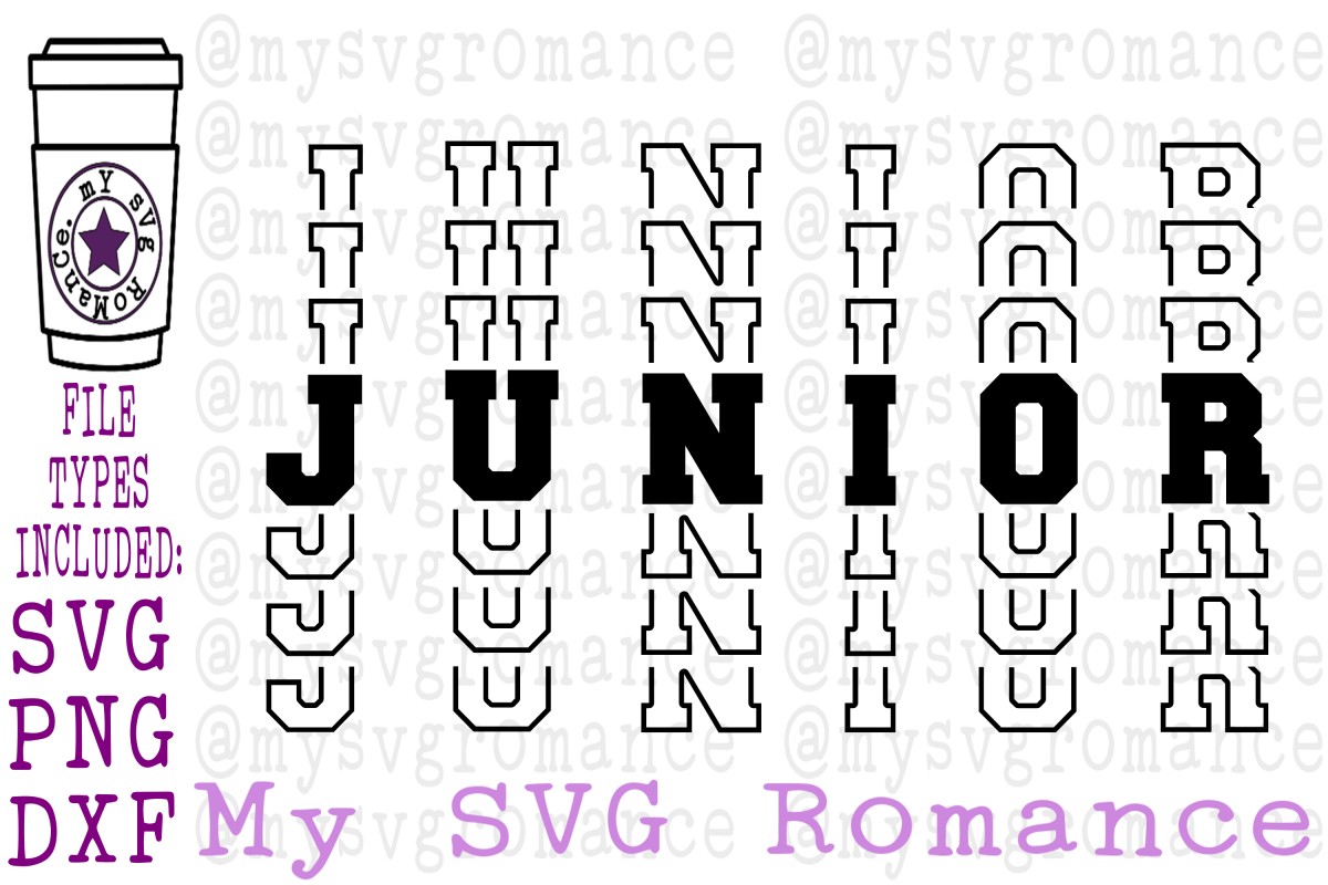 Junior - Word Mirror SVG PNG DXF High School Junior example image 1