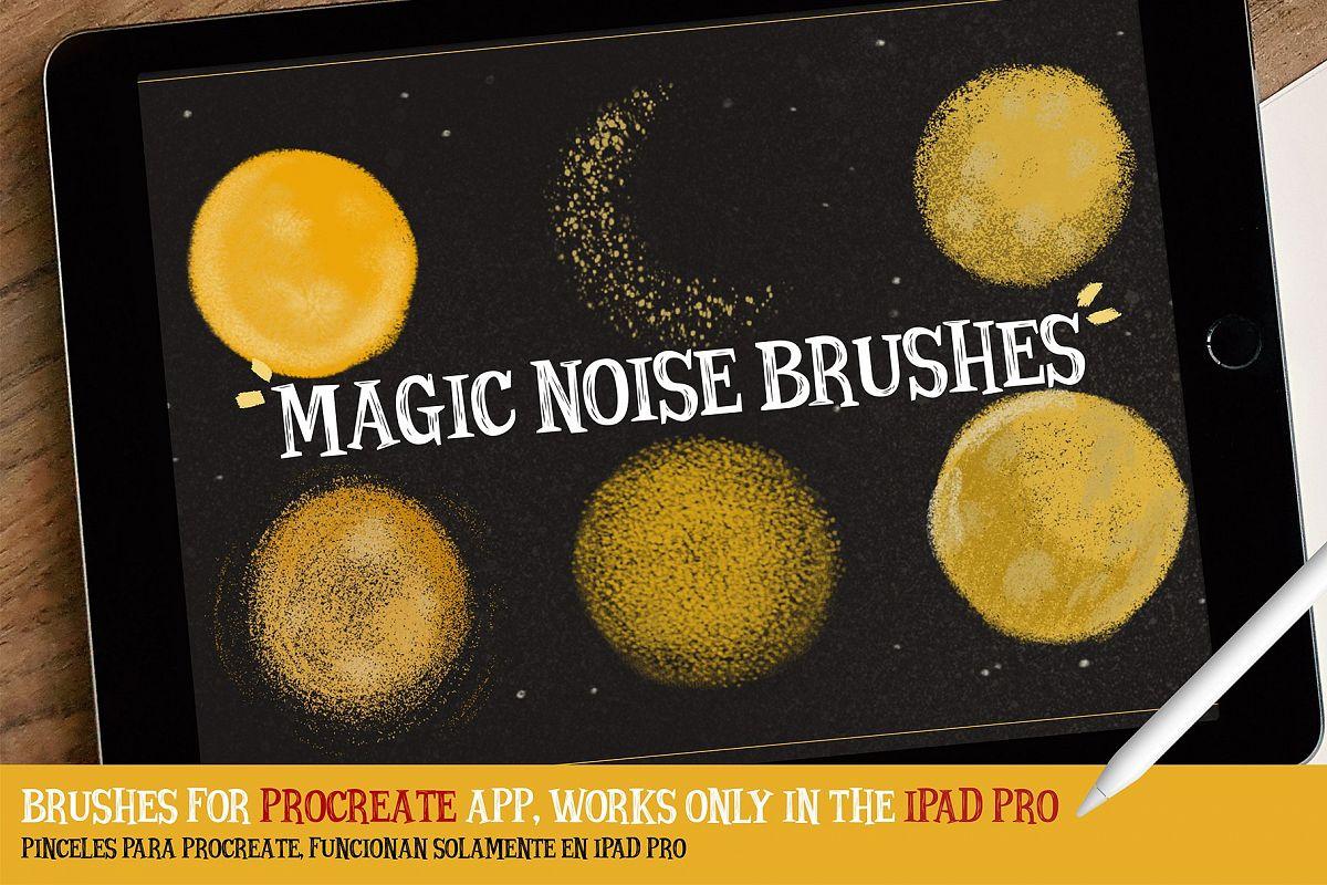 MAGIC NOISE BRUSHES for procreate example image 1