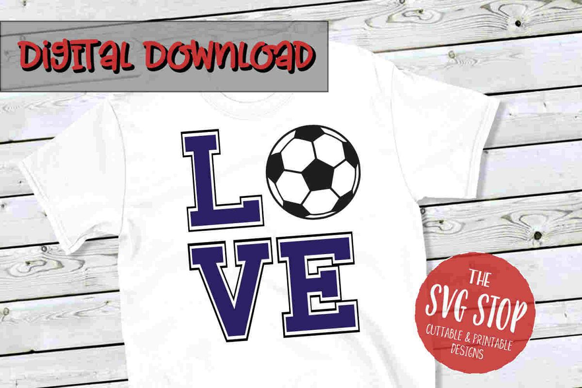 Love Soccer -SVG, PNG, DXF example image 1