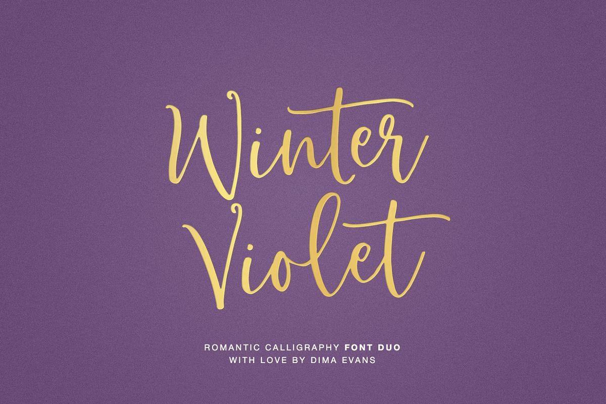 Winter Violet Luxury Script DUO example image 1