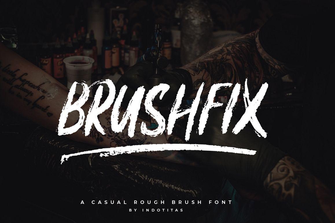 Brushfix Font example image 1