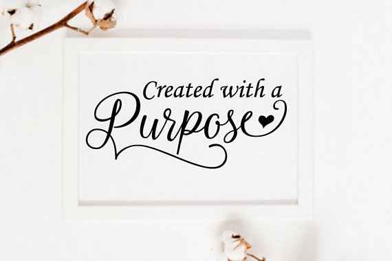 Printable Quotes | Created With A Purpose Print Printable Wall Art Christian Faith