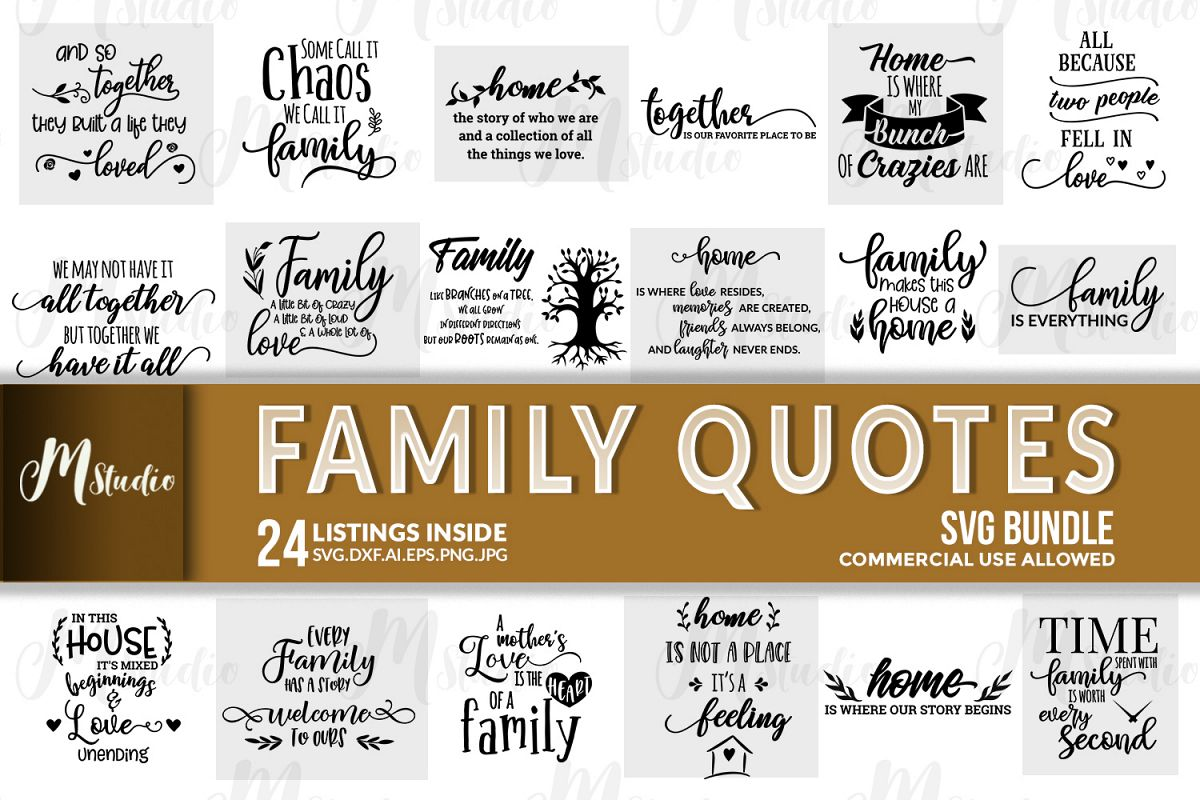 Family Quotes svg bundle example image 1