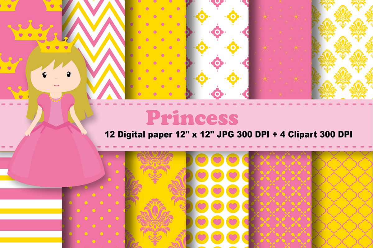 graphic relating to Printable Pattern Paper named Princess Electronic Paper, Fairytale practice, Gals History, Crown history, fairytale printable, women printable, princess clipart.