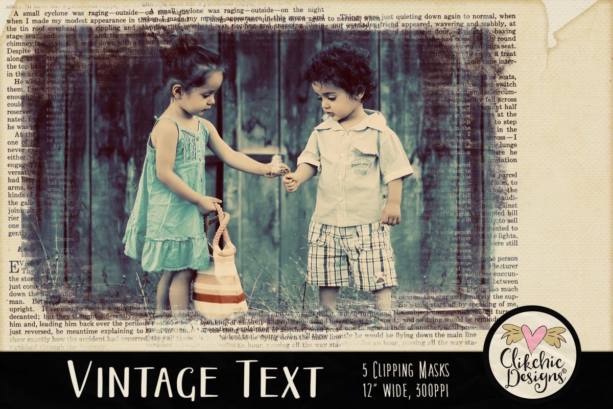 Grunge Clipping Masks - Vintage Text Photoshop Masks & Tutor example image 1