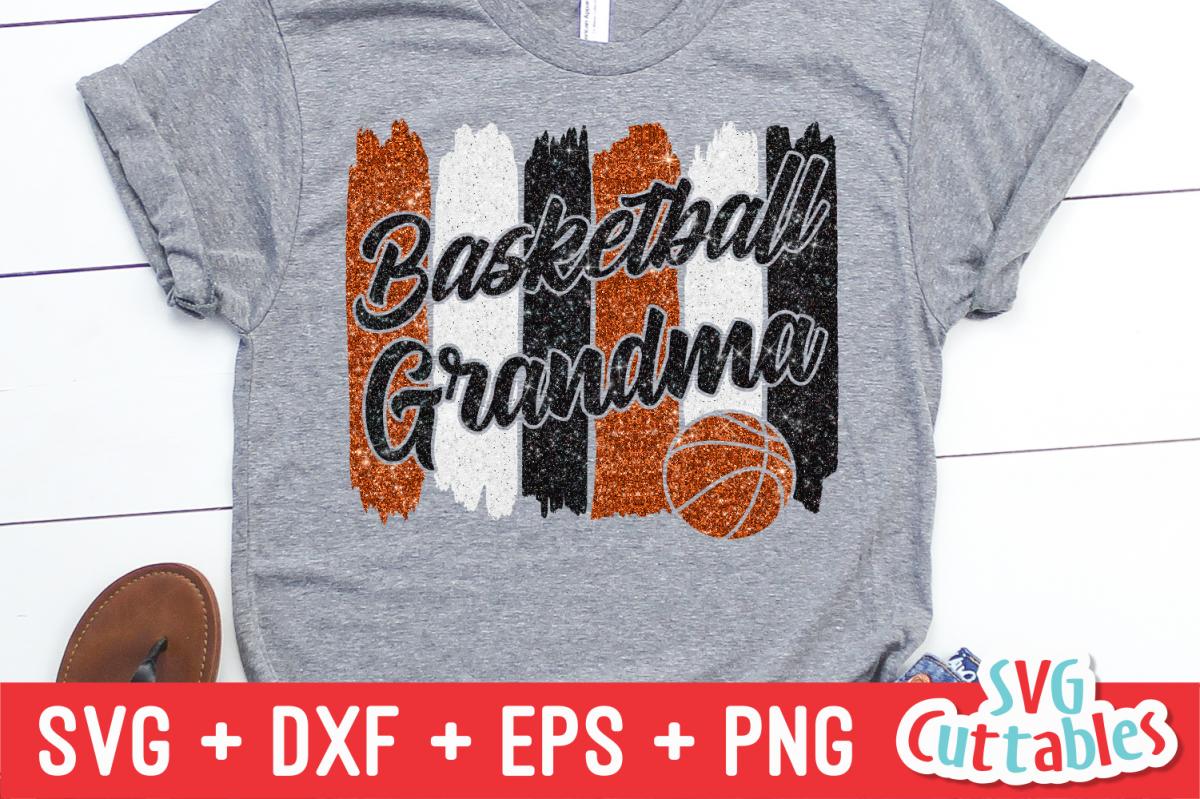Basketball Grandma | SVG Cut File example image 1