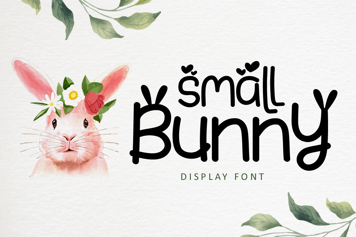 Small Bunny - Display Font For Valentine & Easter Season example image 1