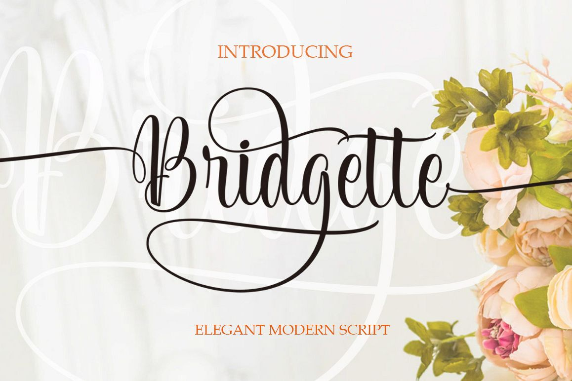Bridgette Elegant Script example image 1