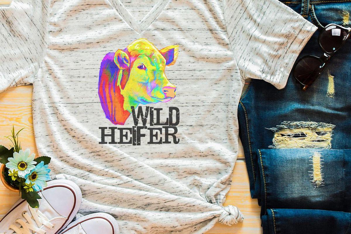 Wild Heifer Sublimation Digital Download example image 1