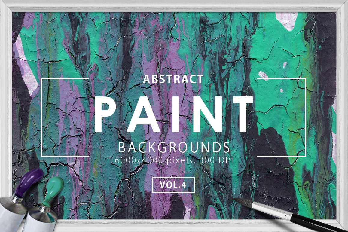 Abstract Paint Backgrounds Vol.4 example image 1