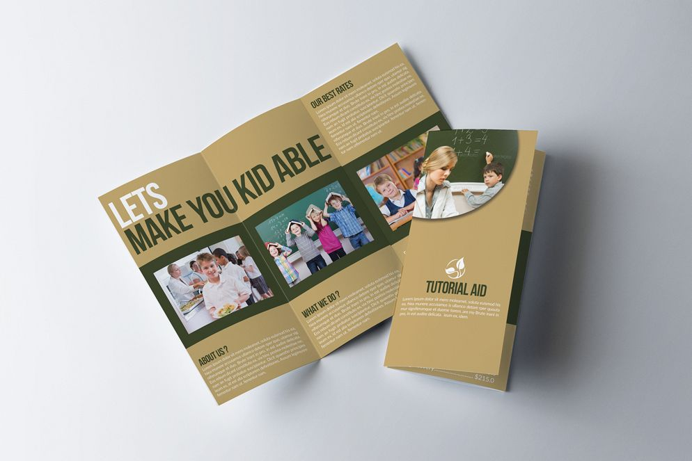 Kids Education Flyer Trifold Brochure example image 1