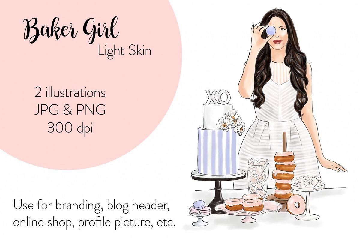Fashion illustration - Baker Girl - Light Skin example image 1