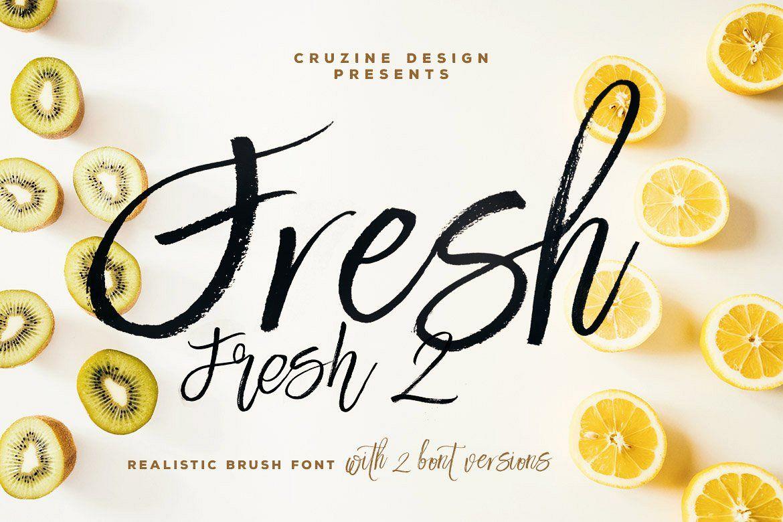 Fresh Brush Font example image 1
