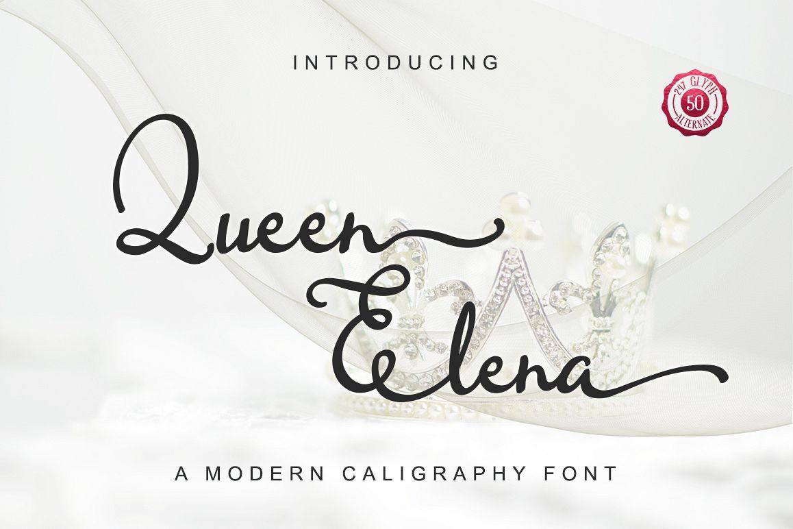 Queen Elena - Script Font example image 1