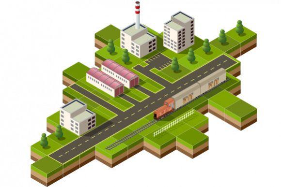 Isometric city example image 1