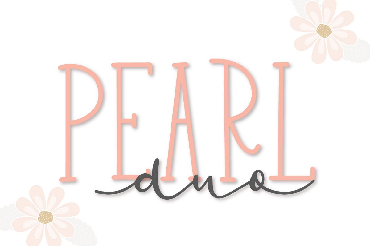 Pearl Duo - A Script & Print Dynamic Duo example image 1