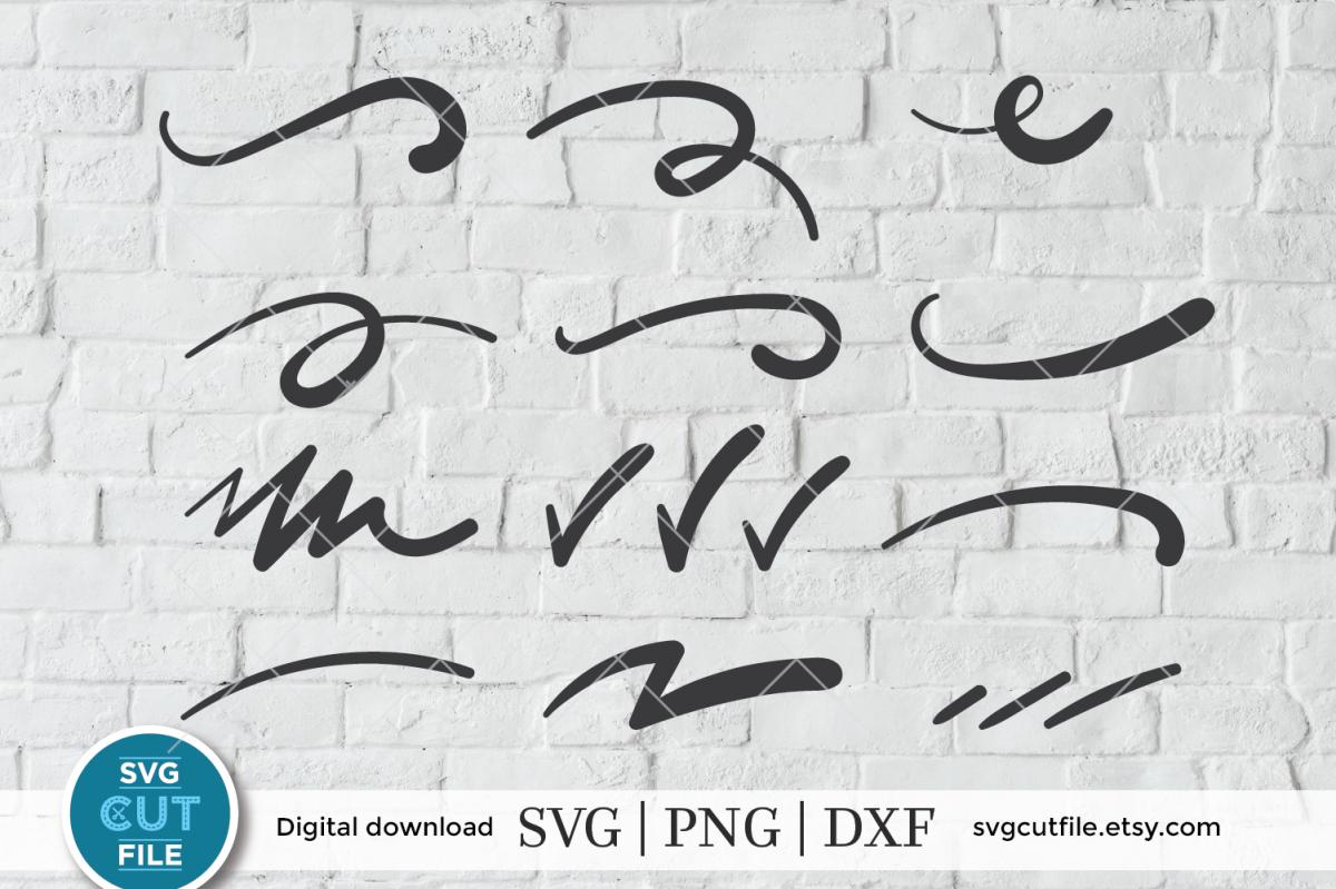 Swoosh SVG, Scrolls SVG, Swirl SVG, Checkmark SVG