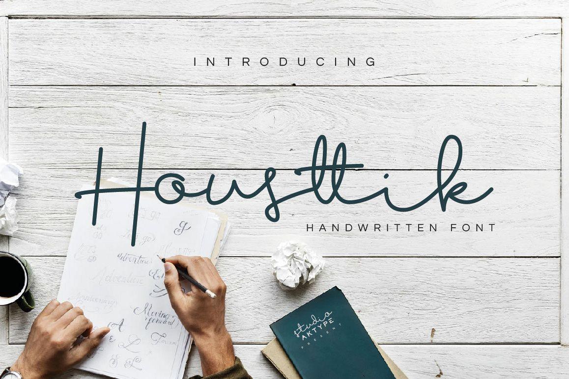 Housttik Handwritten Script example image 1
