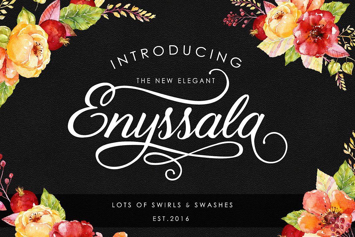 Enyssala Script example image 1