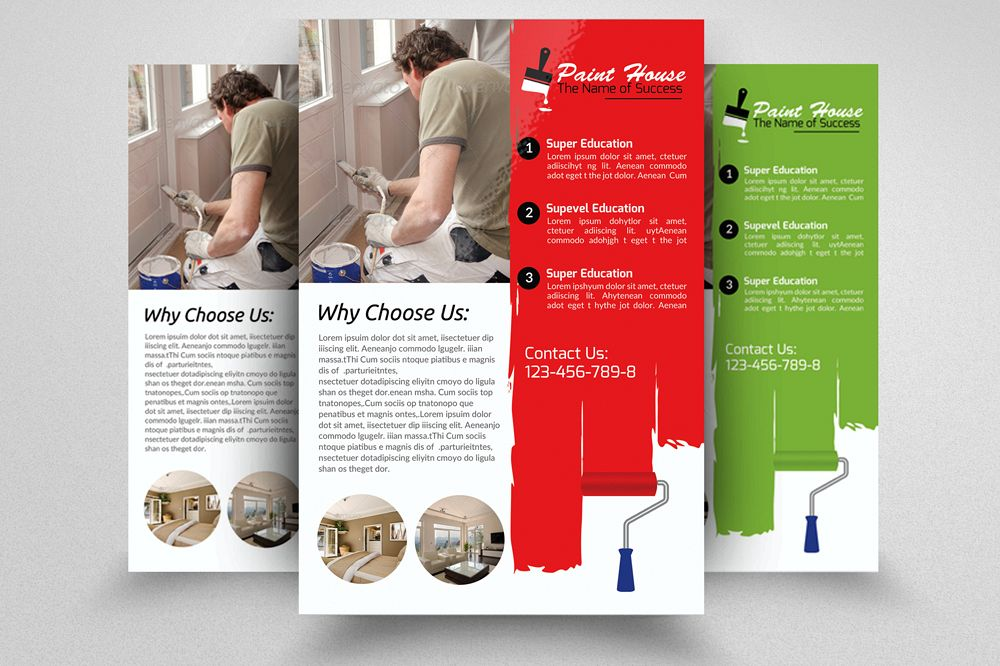 House Paint Service Flyer Template example image 1