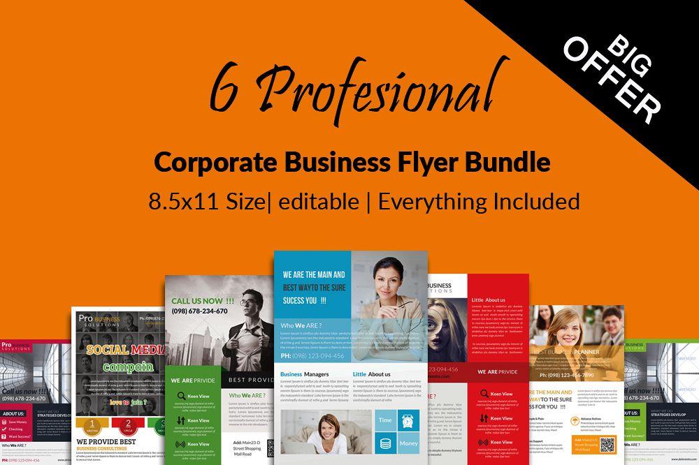 6 Professional Business Flyers Bundle example image 1