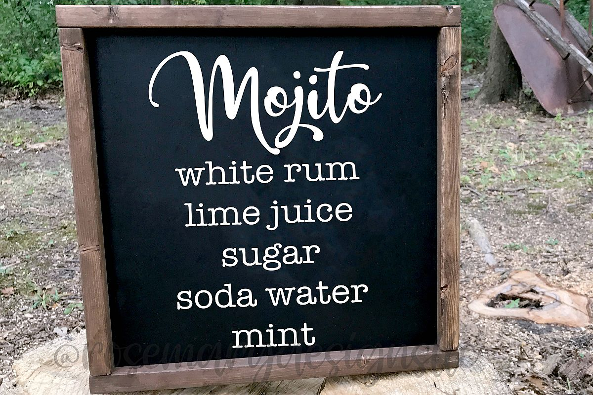 Mojito Recipe SVG example image 1