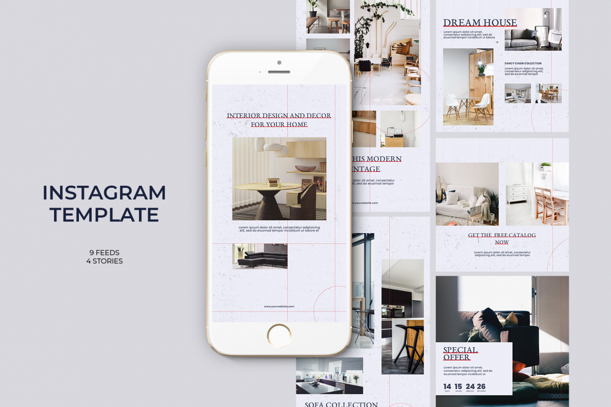 Interior Instagram Templates example image 1